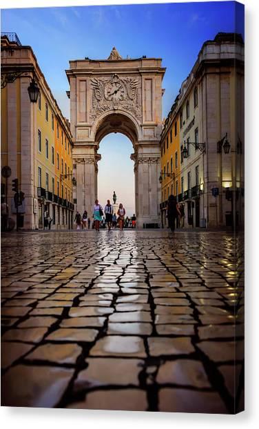Rua Augusta Arch Lisbon Canvas Print