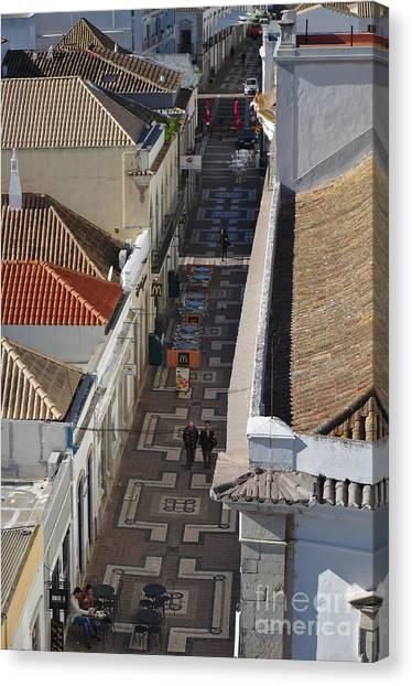 Rua Do Crime In Faro Canvas Print