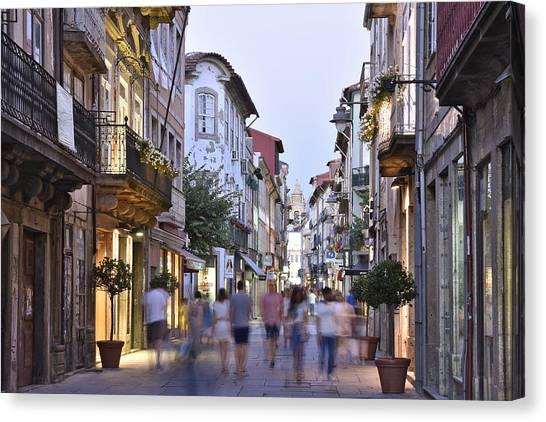 Rua Do Souto Braga Portugal Canvas Print