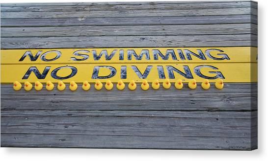 Rubber Duck Swim Team Protest Canvas Print