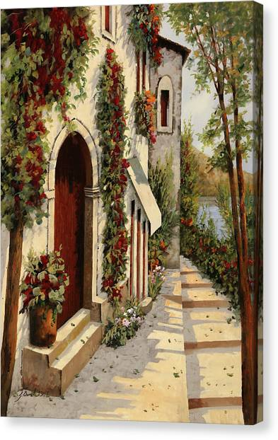 Red Door Canvas Print - Rubino by Guido Borelli