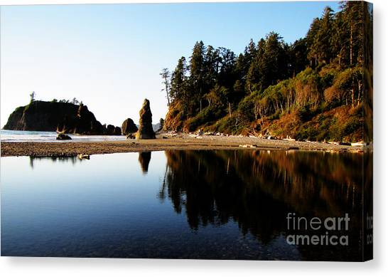 Ruby Beach Reflections Canvas Print