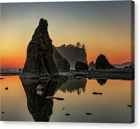 Ruby Beach At Sunset Canvas Print