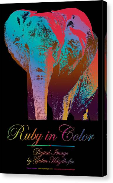 Ruby In Color Canvas Print By Galen Hazelhofer