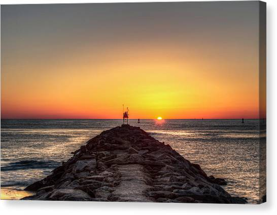 Rudee Inlet Jetty Canvas Print