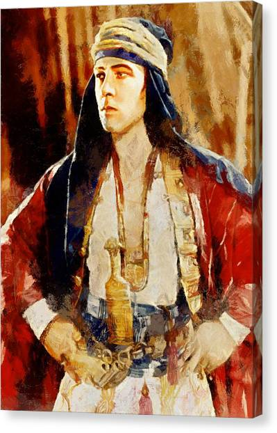 Rudolph Valentino As The Sheikh Canvas Print