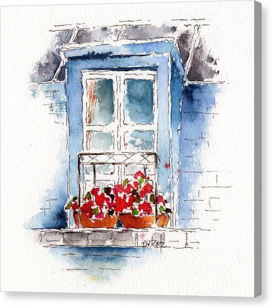 Rue Bernardine Window Canvas Print