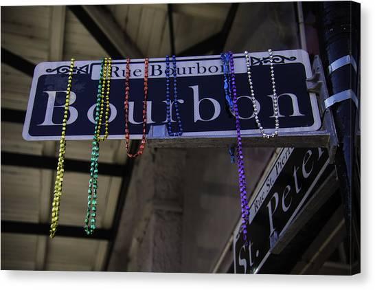 Bourbon Street Canvas Print - Rue Bourbon by Garry Gay