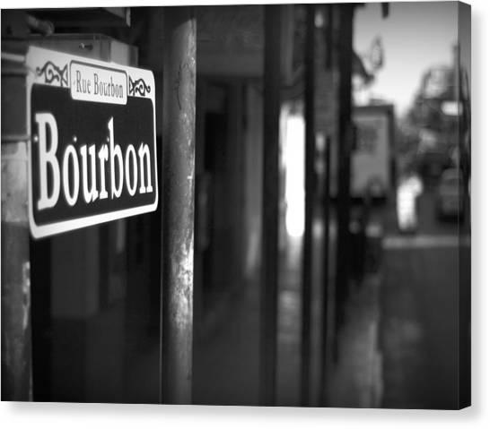 Mardi Gras Canvas Print - Rue Bourbon by John Gusky