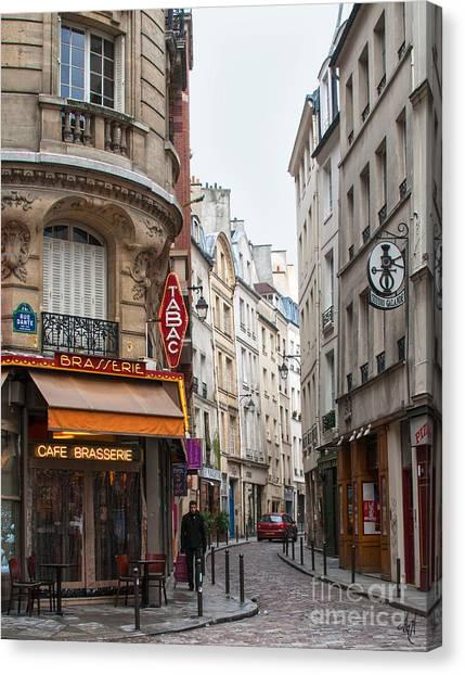 Rue Dante Paris Canvas Print