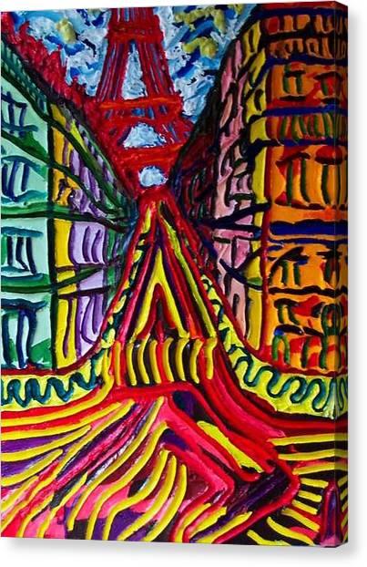 Rue De Paris Canvas Print by Ira Stark