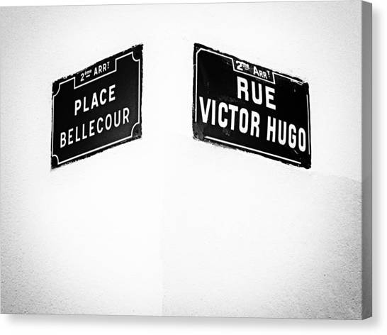 The Corner Of Place Bellecour And Rue Victor Hugo Canvas Print