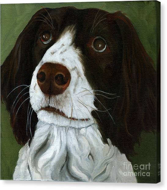 Springer Spaniel Canvas Print - Rueger - Dog Portrait Oil Painting by Linda Apple