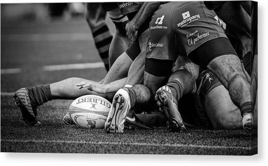 Hands Canvas Print - Rugby by Cesar March