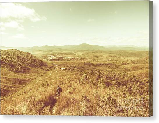 Hiking Canvas Print - Rugged Bushland View by Jorgo Photography - Wall Art Gallery