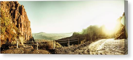 Geology Canvas Print - Rugged Mountain Trail by Jorgo Photography - Wall Art Gallery