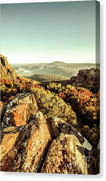 Geology Canvas Print - Rugged Mountaintops To Regional Valleys by Jorgo Photography - Wall Art Gallery