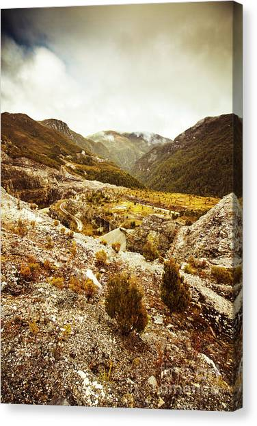 Natural Landscapes Canvas Print - Rugged Valley Wilderness by Jorgo Photography - Wall Art Gallery