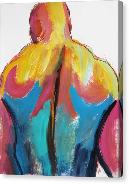 Rugger Man Broad Back Canvas Print