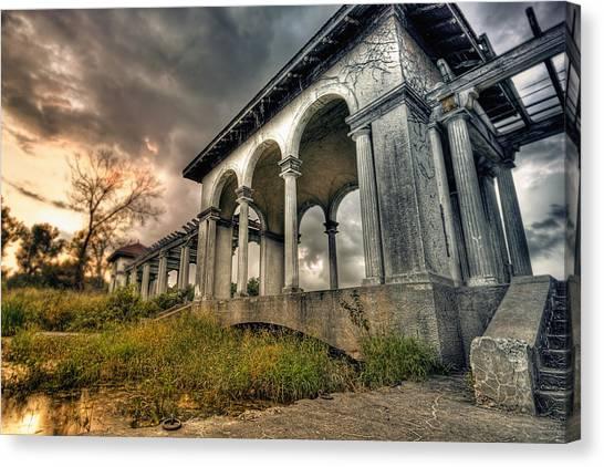 Ruins At Dusk Canvas Print by Ryan Heffron