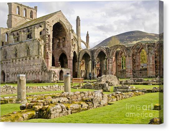 Ruins. Melrose Abbey. Canvas Print