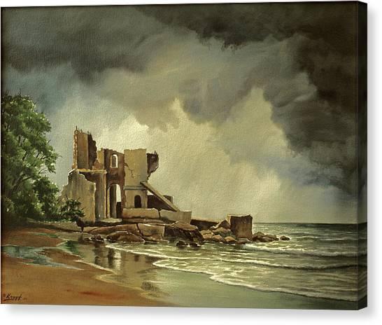 Ruins Canvas Print - Ruins Near Kenosha by Paul Krapf