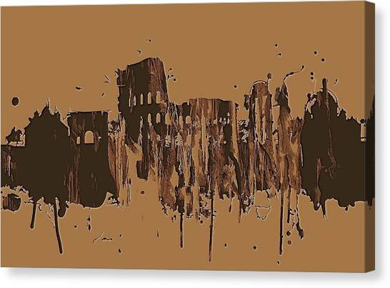 The Colosseum Canvas Print - Ruins Of Rome by Dan Sproul