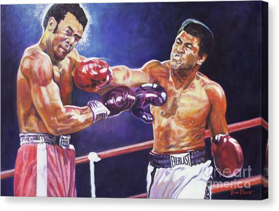 George Foreman Canvas Print - Rumble In The Jungle - Ali Foreman by Bill Pruitt