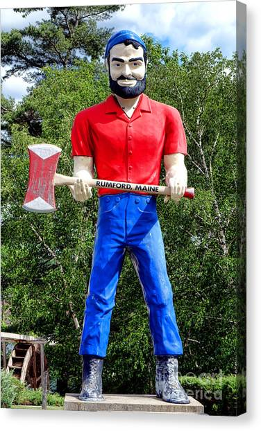 paul bunyan canvas print rumford paul bunyan by olivier le queinec
