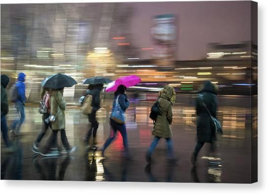 Run Between The Raindrops Canvas Print