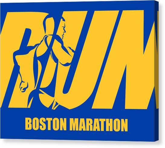 Jog Canvas Print - Run Boston Marathon by Joe Hamilton