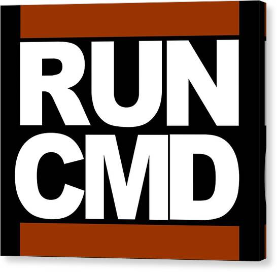Run Cmd Canvas Print