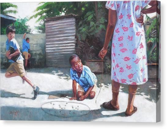 Grandma Canvas Print - Run by Colin Bootman