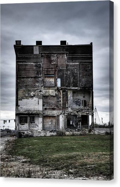 Saint Louis University Canvas Print - Pevely Building - Run Down Building In Saint Louis City by Dylan Murphy