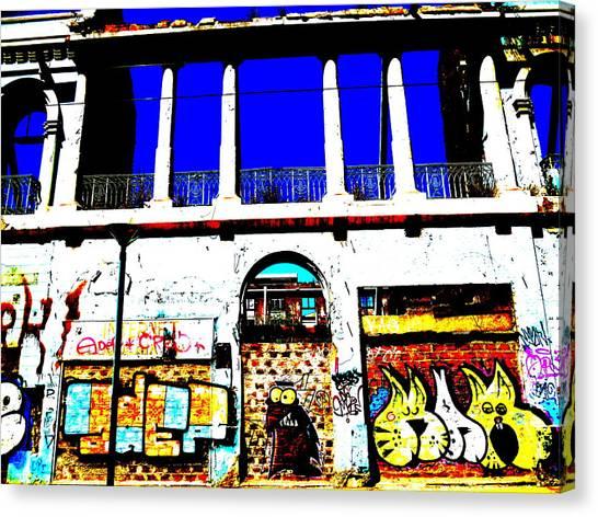Run Down Valparaiso Buildings Canvas Print