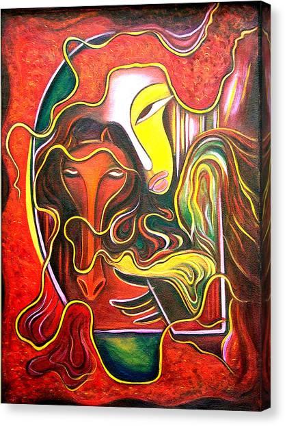 run Canvas Print by Raji Chacko