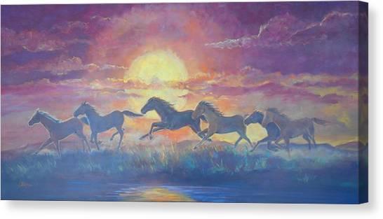 Lynn Burton Canvas Print - Run Through The Sun by Lynn Burton