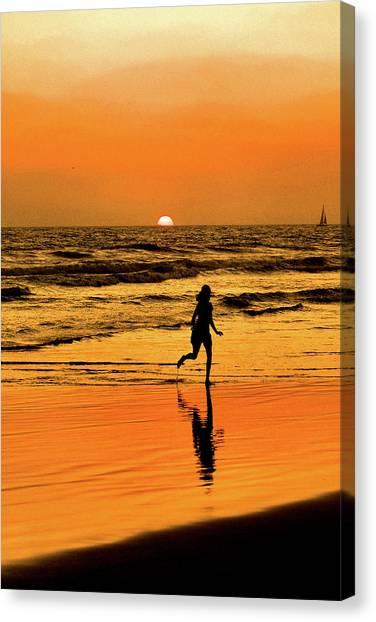 Run To The Sun Canvas Print