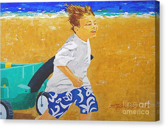 Running Against The Wind Canvas Print