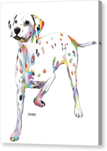 Running Dalmatian Canvas Print