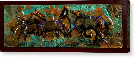 Running Horses Canvas Print