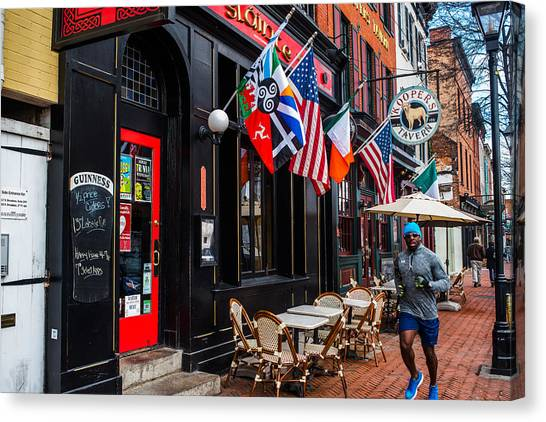 Fells Point Baltimore Canvas Print - Running by Jim Archer