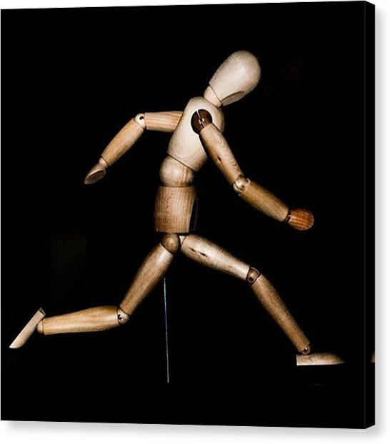 Famous Artists Canvas Print - Running Man. #photographer #photo by Alex Snay