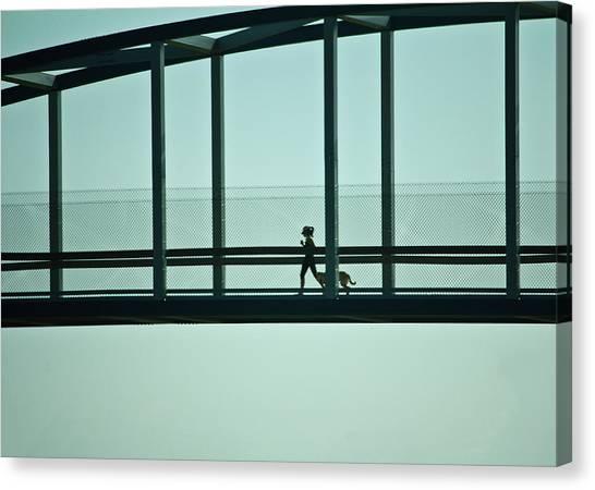 Running On Air Canvas Print