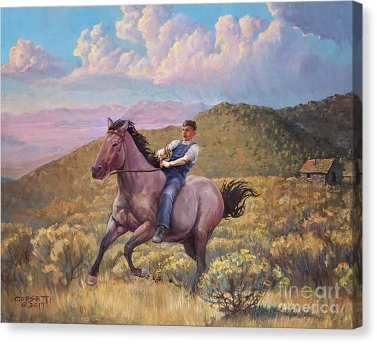 Runaway Roan Canvas Print