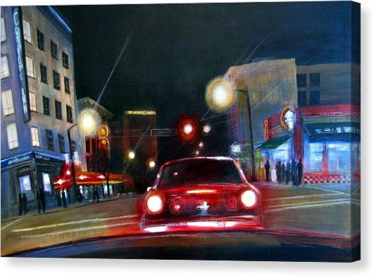 Running The Red Light Canvas Print by Victoria Heryet