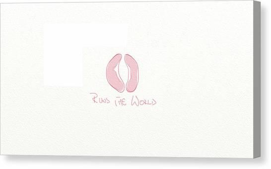 Fun Run Canvas Print - Runs The World by Ana Marcu