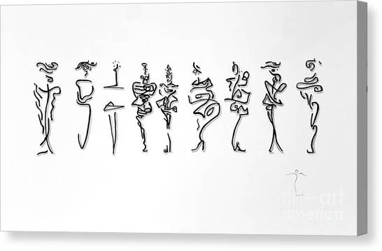 Canvas Print featuring the drawing Runway Rl by James Lanigan Thompson MFA