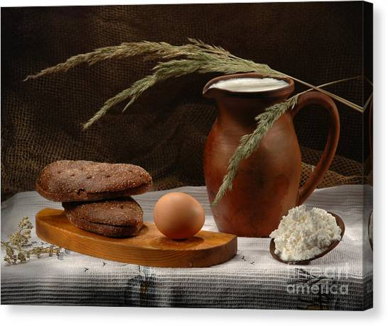 Rural Breakfast Canvas Print by Irina No