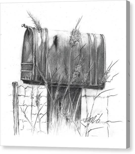 Rural Country Mailbox Canvas Print